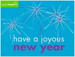 Houston Food Bank Joyous New Year eCard.260